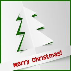 Free Creative Christmas Tree From Cuted Out Paper Stock Image - 28036151