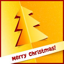 Free Creative Christmas Tree From Cuted Out Paper Stock Images - 28036154