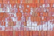 Free Red Clay Bricks. Stock Image - 28040111