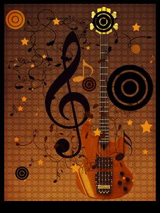 Free Vintage Music Guitar Background Stock Photo - 28040380