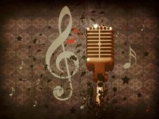 Vintage Music Microphone Royalty Free Stock Images