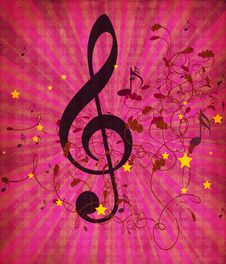 Free Vintage Pink Music Background Stock Photography - 28040412