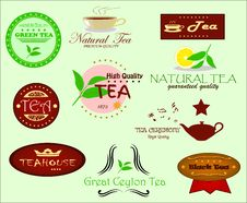 Free Tea Labels Royalty Free Stock Photo - 28040855