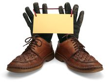 Free Old Leather Shoes And Gloves. Stock Photos - 28042193