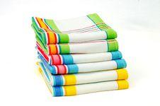 Free Stack Of Dishtowels Stock Image - 28043481
