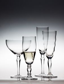 Free Different Champagne Glasses Royalty Free Stock Images - 28044379