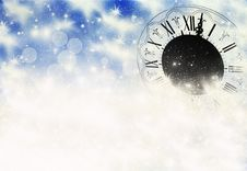 New Year S At Midnight Royalty Free Stock Photos