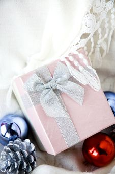 Free Gift Box On White Clothing Stock Photo - 28047370