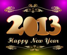 Free Happy New Year 2013 Stock Image - 28048861