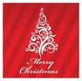Free Merry Christmas  Greeting Card Red Color Stock Image - 28056861