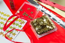 Free Christmas Stars For Decoration Stock Photo - 28050870