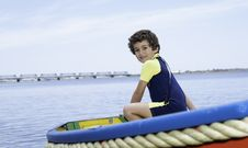 Free Boy In Boat Stock Photography - 28054062