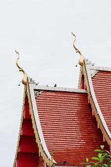 Thai Temple Roof. Stock Photography