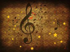 Free Vintage Music Floral Background Stock Photo - 28055590