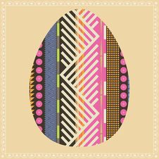 Free Floral Easter Egg Card Royalty Free Stock Images - 28056129