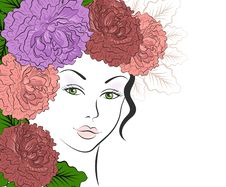 Free Romantic Girl With Floral Hair Royalty Free Stock Photos - 28057838
