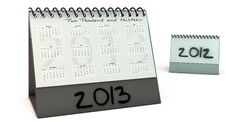 Calendar 2013 In 3d Royalty Free Stock Photo