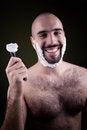 Free Portrait Of Handsome Shaving Man Stock Images - 28061504
