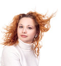 Free Girl With Flying Hair Royalty Free Stock Images - 28068389