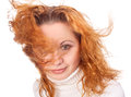 Free Girl With Flying Hair Stock Image - 28068401