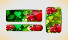 Free Valentines Day Banner Royalty Free Stock Photo - 28062965