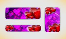 Free Valentines Day Banner Stock Images - 28062974