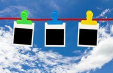 Free Blank Photo Frames Hanging Stock Photos - 28064263