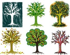 Free Stylized Trees Stock Photo - 28064780