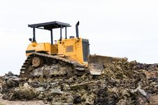 Free Bulldozer In Construction Site Stock Photos - 28064783