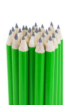 Free Green Pencils Royalty Free Stock Photography - 28067347