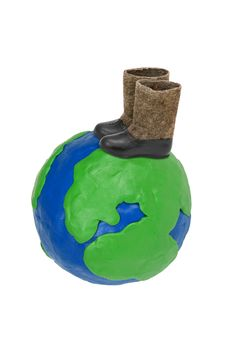 Free Plasticine Globe And Felt Boots Stock Photo - 28067380