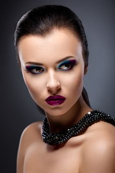 Free Classy Strict Lady Portrait - Bright Makeup Stock Photos - 28068433