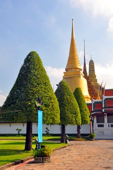 Golden Temple Dome & Spire At The Grand Palace.