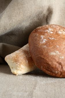 Free Bread On Canvas Royalty Free Stock Image - 28071996