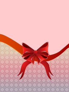 Free Holiday Background With Bow Royalty Free Stock Images - 28072039