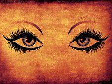 Free Grunge Woman Eyes Stock Photo - 28072050