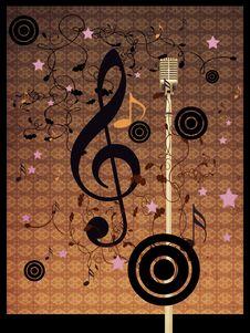 Vintage Music Microphone Stock Image