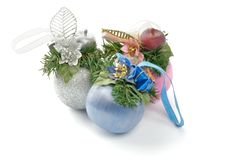 Three Baubles Royalty Free Stock Images