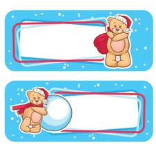 Free Christmas Label  Bear Royalty Free Stock Images - 28073619