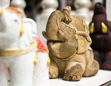 Free Stone Elephant Statue Stock Image - 28075221