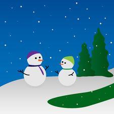 Free Snowmen Royalty Free Stock Image - 28075376