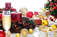 Free Fancy Christmas Table Stock Photography - 28076692