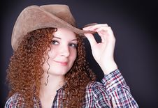 Free Portrait Of A Pretty Curly Girl Stock Images - 28076904