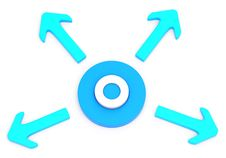 Free Circle With Four Arrows Royalty Free Stock Image - 28076966