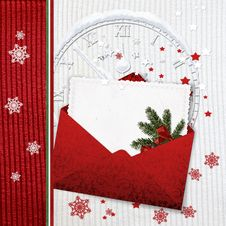 Free Knitted Christmas Card With Envelope Stock Photo - 28078550