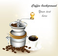 Free Background With  Cup Of Coffee, Grains Stock Photos - 28084643