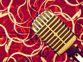Free Microphone Floral Background Royalty Free Stock Images - 28087119