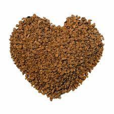 Free Coffee Granule Heart Royalty Free Stock Image - 28080246