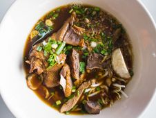 Rice Noodles With Stewed Duck Stock Image
