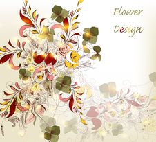 Free Hand Drawn Flower Design Stock Photos - 28085223